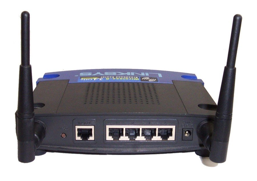 Back of Linksys WRT54G router