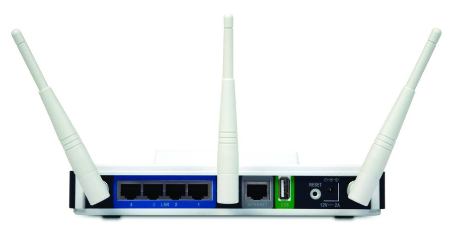 DIR-855 router back